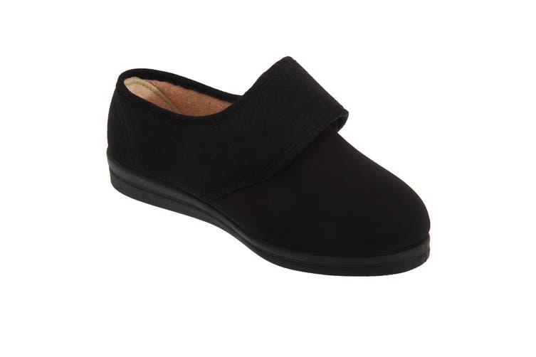Comfylux Womens/Ladies Stella Superwide Slippers (Black) (9 UK)