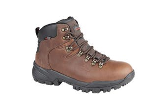 Johnscliffe Mens Canyon Leather Superlight Hiking Boots (Conker Brown) - UTDF552