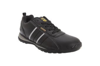 Grafters Mens Safety Toe Cap Trainer Shoes (Black/Grey Action) (5 UK)
