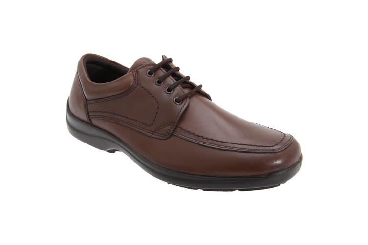 IMAC Mens Mudguard Panel Tie Leather Shoes (Brown) (45 EUR)