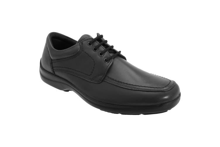 IMAC Mens Mudguard Panel Tie Leather Shoes (Black) (42 EUR)