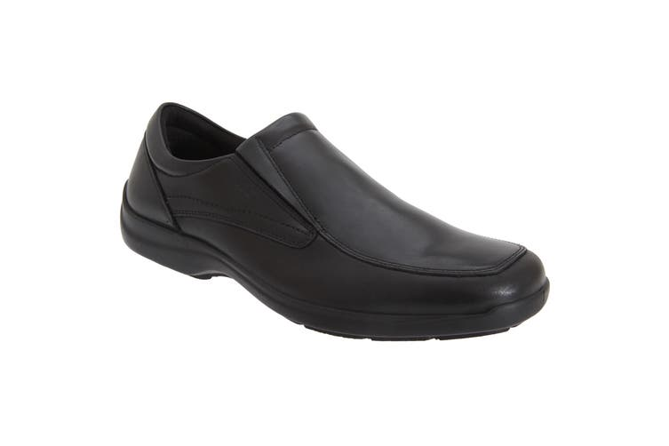 IMAC Mens Twin Gusset Casual Leather Shoes (Black) (46 EUR)