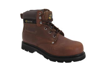 Grafters Mens Gladiator Safety Boots (Brown) (3 UK)