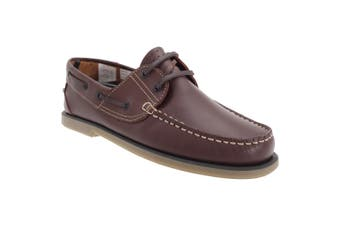 Dek Mens Moccasin Boat Shoes (BrownLeather) (12 UK)