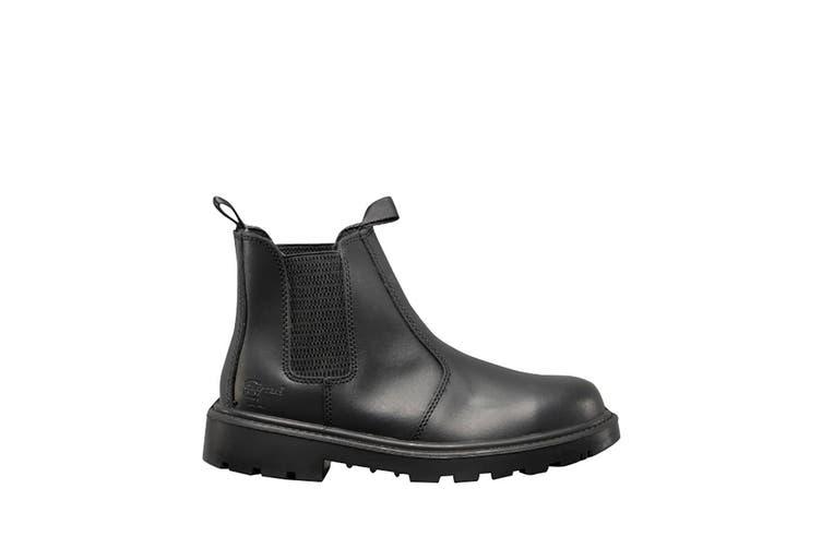 Grafters Mens Grinder Safety Twin Gusset Leather Dealer Boots (Black) (15 UK)