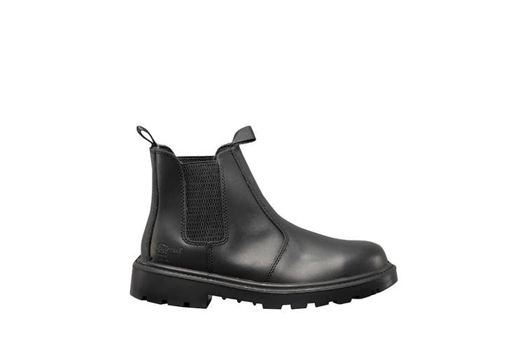Grafters Mens Grinder Safety Twin Gusset Leather Dealer Boots (Black) (4 UK)
