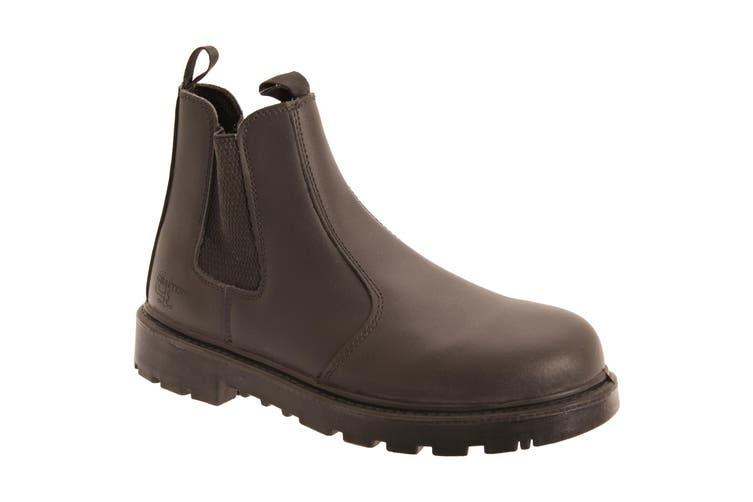 Grafters Mens Grinder Safety Twin Gusset Leather Dealer Boots (Brown) (13 UK)