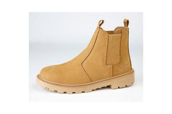 Grafters Mens Grinder Safety Twin Gusset Leather Dealer Boots (Honey Nubuck) (14 UK)