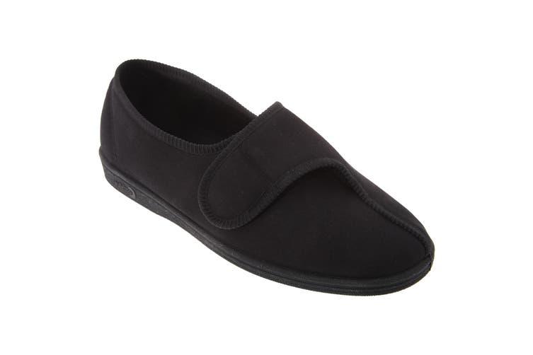 Comfylux Mens Bill Water Resistant Slippers (Black) (10 UK)