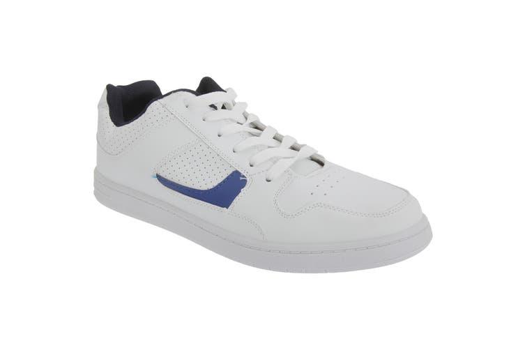 Dek Mens Euston Lace Trainers (White/Navy Blue) (8 UK)