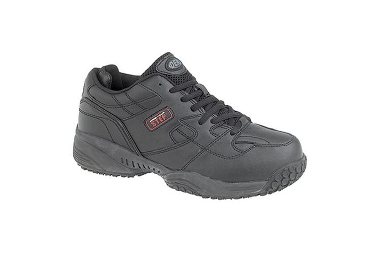 Dek Mind Your Step Mens Cruiser Comfort Lace Leather Trainers (Black) (7 UK)