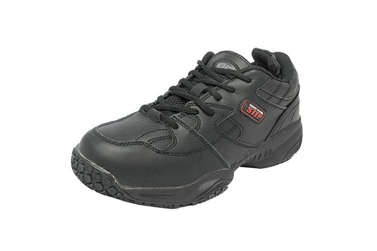 Dek Mind Your Step Mens Cruiser Comfort Lace Leather Trainers (Black) (8 UK)