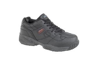 Dek Mind Your Step Mens Cruiser Comfort Lace Leather Trainers (Black) (12 UK)