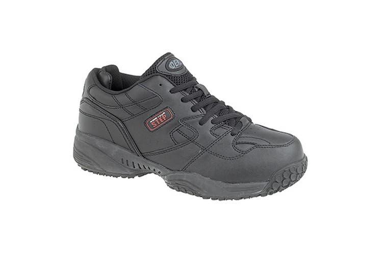 Dek Mind Your Step Mens Cruiser Comfort Lace Leather Trainers (Black) (14 UK)