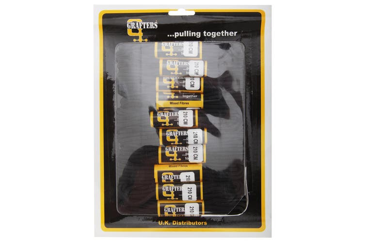 Grafters Round 210cm Boot Laces (Packet Of 10) (Black) (Pack of 10)