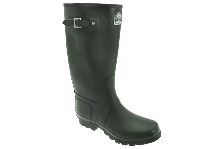 Woodland Unisex Quality Strap Wide Fit Wellington Boots (Green) (4 UK)