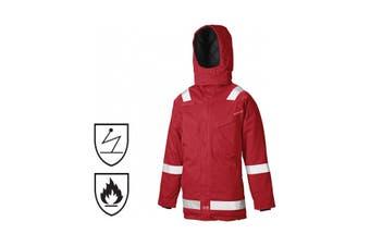 Dickies Mens Pyrovatex Flame Retardant Antistatic Parka Jacket (Red) (XXXXL)