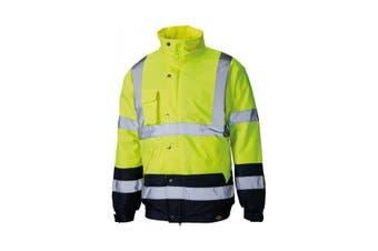 Dickies Mens Hi Vis Two Tone Pilot Jacket (Yellow/Navy) (XXXXL)