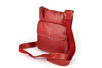 Eastern Counties Leather Womens/Ladies Claire Front Pocket Handbag (Red) (One size)