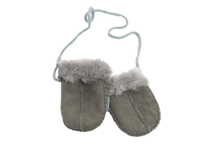 Eastern Counties Leather Baby Sheepskin Mittens (Grey) (One size)