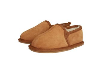 Eastern Counties Leather Childrens/Kids Sheepskin Lined Slippers (Chestnut) (10-11 Child UK)