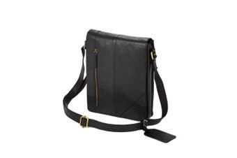 Eastern Counties Leather Narrow Messenger Bag (Black) (One size)