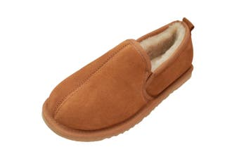 Eastern Counties Leather Mens Sheepskin Lined Hard Sole Slippers (Chestnut) (13 UK)