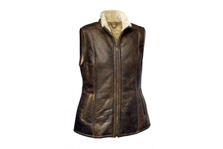 Eastern Counties Leather Womens/Ladies Gilly Sheepskin Gilet (Chocolate Forest) (10)