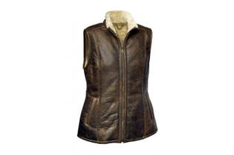 Eastern Counties Leather Womens/Ladies Gilly Sheepskin Gilet (Chocolate Forest) (16)