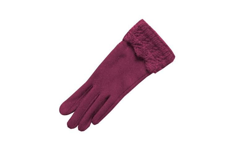 Eastern Counties Leather Womens/Ladies Crochet Cuff Gloves (Grey) (One size)
