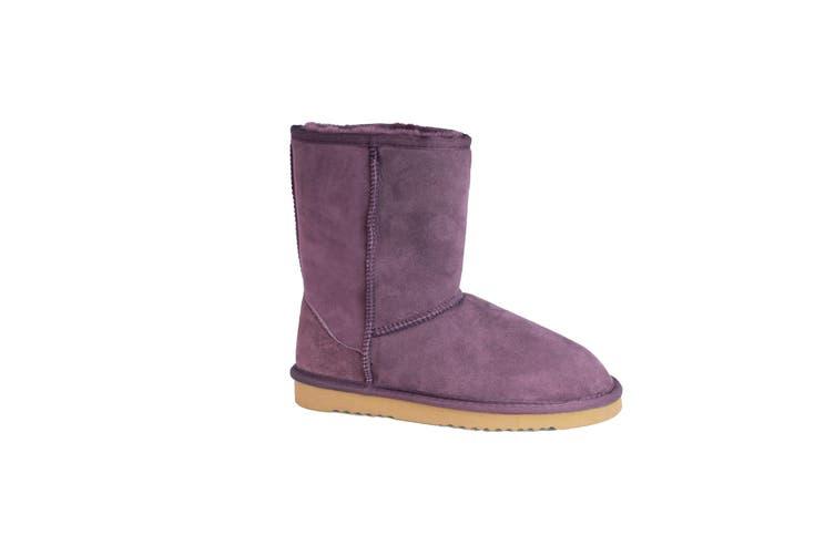 Eastern Counties Leather Womens/Ladies Jodie Sheepskin Short Plain Boots (Purple) (9 UK)