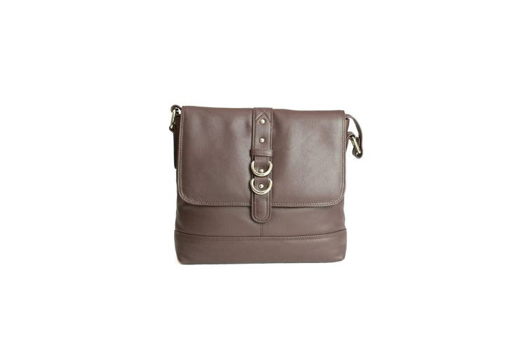 Eastern Counties Leather Womens/Ladies Jude Stud And Ring Detail Handbag (Oxbrown) (One size)