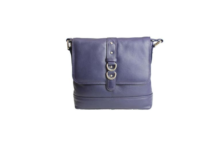 Eastern Counties Leather Womens/Ladies Jude Stud And Ring Detail Handbag (Purple) (One size)
