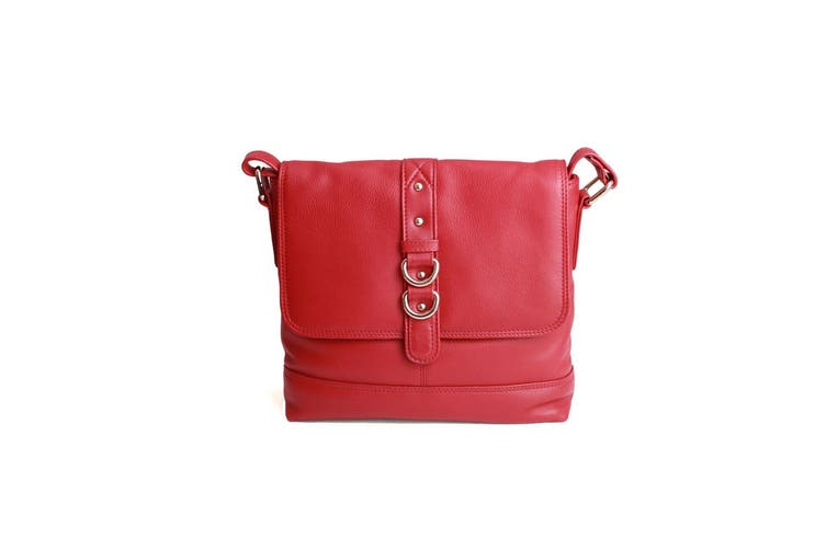 Eastern Counties Leather Womens/Ladies Jude Stud And Ring Detail Handbag (Red) (One size)