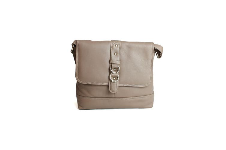 Eastern Counties Leather Womens/Ladies Jude Stud And Ring Detail Handbag (Taupe) (One size)