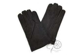 Eastern Counties Leather Womens/Ladies 3 Point Stitch Detail Sheepskin Gloves (Black) (L)