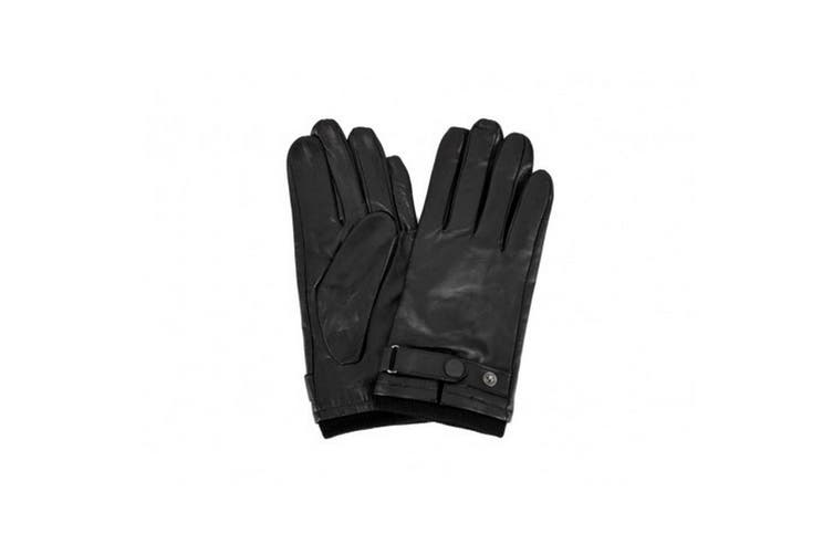 Eastern Counties Leather Mens Stud Strap Gloves (Black) (L)
