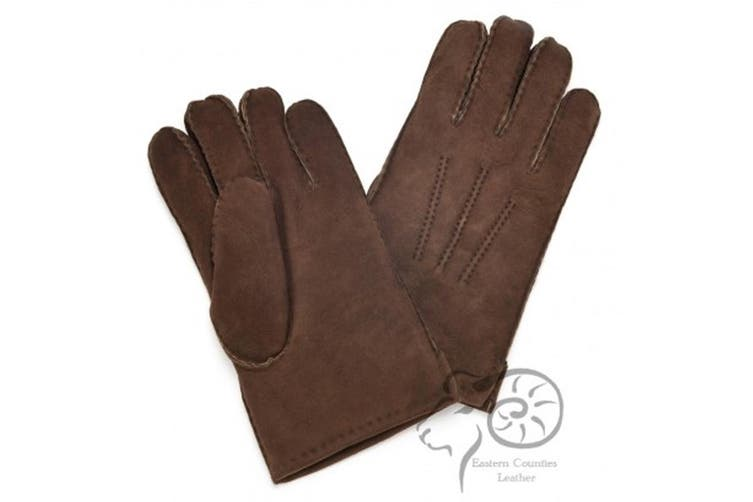Eastern Counties Leather Mens 3 Point Stitch Sheepskin Gloves (Coffee) (L)