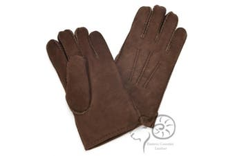 Eastern Counties Leather Mens 3 Point Stitch Sheepskin Gloves (Coffee) (S)