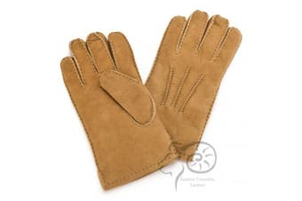 Eastern Counties Leather Mens 3 Point Stitch Sheepskin Gloves (Tan) (XL)