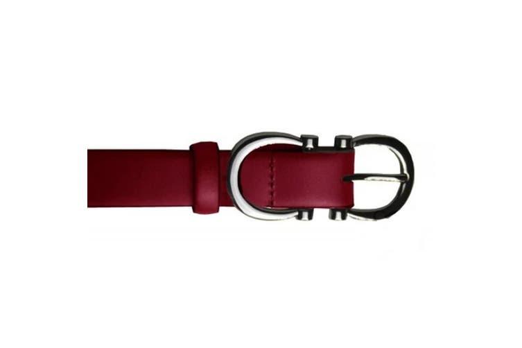 Eastern Counties Leather Womens/Ladies Feature Buckle Belt (Burgundy) (16)