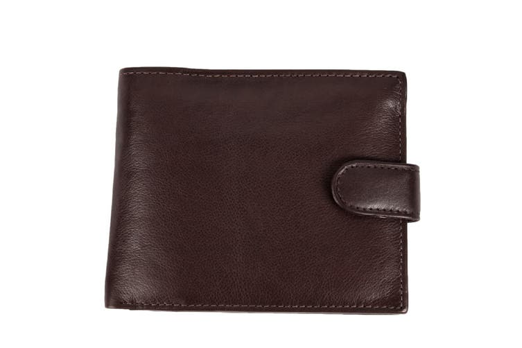 Royal Ram Oscar Bifold Leather Wallet (Brown) (One size)