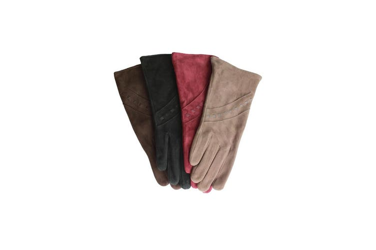 Eastern Counties Leather Womens/Ladies Sian Suede Gloves (Taupe) (L)