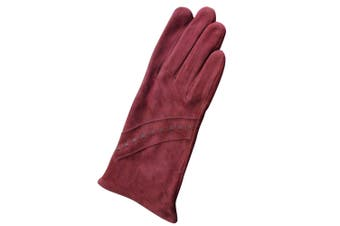 Eastern Counties Leather Womens/Ladies Sian Suede Gloves (Oxblood) (M)