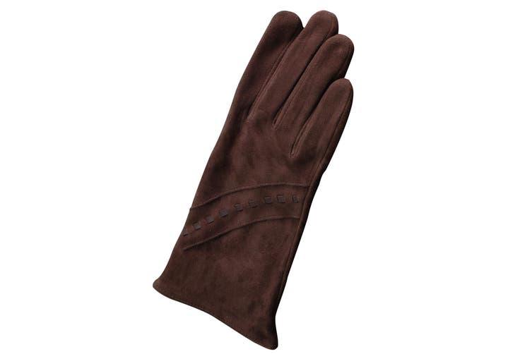 Eastern Counties Leather Womens/Ladies Sian Suede Gloves (Brown) (M)