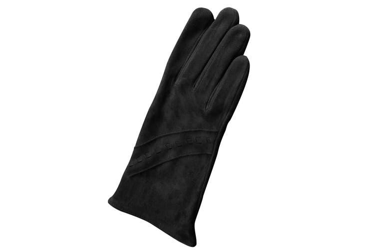 Eastern Counties Leather Womens/Ladies Sian Suede Gloves (Black) (M)