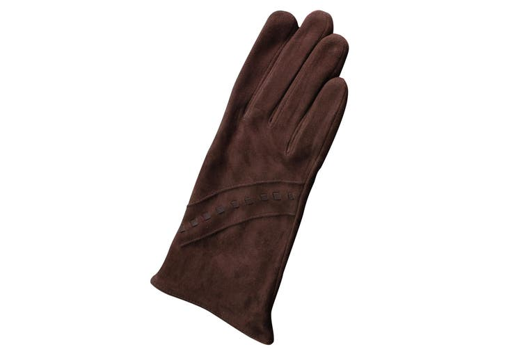 Eastern Counties Leather Womens/Ladies Sian Suede Gloves (Brown) (XL)
