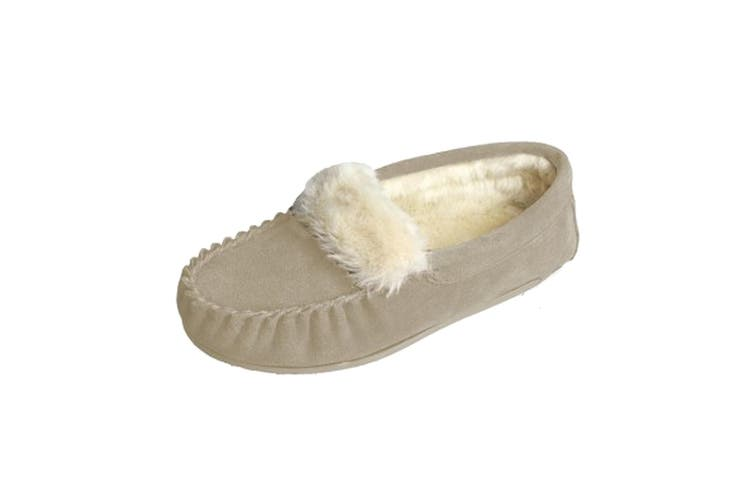 Eastern Counties Leather Womens/Ladies Zoe Plush Lined Moccasins (Camel) (5 UK)