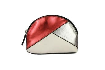 Eastern Counties Leather Womens/Ladies Betsy Coin Purse (Red Foil/Pewter/White) (One Size)