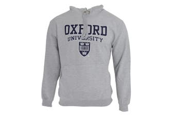 Mens Oxford University Print Hooded Sweatshirt Jumper/Hoodie Top (Grey) - UTF165